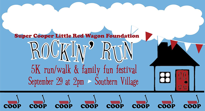 Rockin' Run - September 29 at 2pm, Southern Village